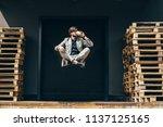 handsome young businessman... | Shutterstock . vector #1137125165
