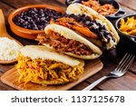 latin american breakfast ...   Shutterstock . vector #1137125678