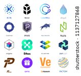cryptocurrency coin sign vector ... | Shutterstock .eps vector #1137127868