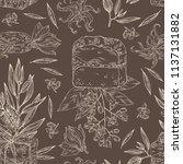 seamless pattern with handmade... | Shutterstock .eps vector #1137131882
