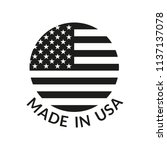 made in usa logo or label.... | Shutterstock .eps vector #1137137078
