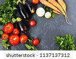 summer vegetables  eggplants ...