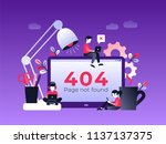 flat concept 404 error page or... | Shutterstock .eps vector #1137137375