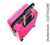 pink suitcase trunk luggage... | Shutterstock . vector #1137141248