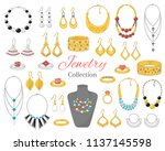 fashionable jewelry collection  ... | Shutterstock .eps vector #1137145598