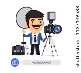 cartoon flat male character of... | Shutterstock .eps vector #1137149588