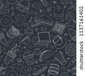 seamless pattern of vector... | Shutterstock .eps vector #1137161402