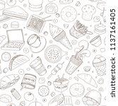 seamless pattern of vector... | Shutterstock .eps vector #1137161405