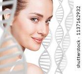 portrait of sensual woman among ... | Shutterstock . vector #1137162932