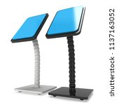lcd screen stand. trade show... | Shutterstock . vector #1137163052
