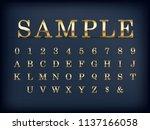luxury golden modern english... | Shutterstock .eps vector #1137166058