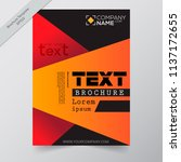 business annual report brochure ... | Shutterstock .eps vector #1137172655