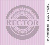 rector badge with pink... | Shutterstock .eps vector #1137174362