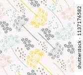 vector organic floral seamless... | Shutterstock .eps vector #1137176582