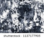 black and white creative...   Shutterstock . vector #1137177905