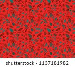seamless vector pattern with... | Shutterstock .eps vector #1137181982
