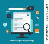 flat design concept search... | Shutterstock .eps vector #1137186395