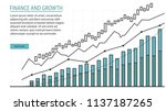 financial management graphic in ... | Shutterstock .eps vector #1137187265