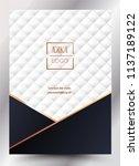 luxury premium menu design... | Shutterstock .eps vector #1137189122
