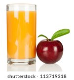 plum juice in the glass and... | Shutterstock . vector #113719318
