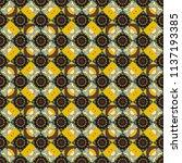 folk ethnic floral ornamental...   Shutterstock .eps vector #1137193385