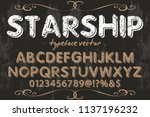 font alphabet typeface vintage... | Shutterstock .eps vector #1137196232