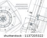 blueprint  sketch. vector... | Shutterstock .eps vector #1137205322