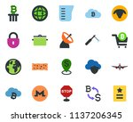 colored vector icon set   sheep ... | Shutterstock .eps vector #1137206345