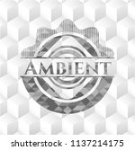 ambient grey badge with... | Shutterstock .eps vector #1137214175