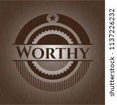 worthy wood signboards   Shutterstock .eps vector #1137226232