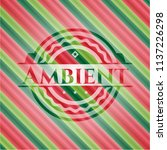 ambient christmas style badge.. | Shutterstock .eps vector #1137226298