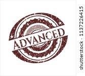 red advanced distress rubber... | Shutterstock .eps vector #1137226415