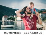 father enjoying his time with... | Shutterstock . vector #1137238508