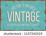 vector vintage typeface. retro... | Shutterstock .eps vector #1137242315