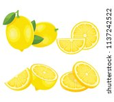 yellow lemon fresh | Shutterstock .eps vector #1137242522