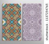 vertical seamless patterns set  ... | Shutterstock .eps vector #1137254765