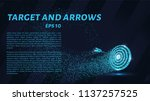 the target and the arrow of the ... | Shutterstock .eps vector #1137257525