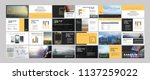 orange original presentation... | Shutterstock .eps vector #1137259022