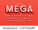 stylish 3d display font design  ... | Shutterstock .eps vector #1137262685