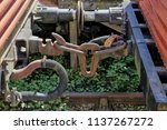 the rusty couplings on old... | Shutterstock . vector #1137267272
