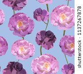 seamless pattern with lilac... | Shutterstock .eps vector #1137267878