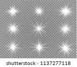 glow light effect. star burst... | Shutterstock .eps vector #1137277118