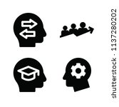 filled set of 4 people icons... | Shutterstock . vector #1137280202