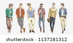 fashion man. collection of... | Shutterstock .eps vector #1137281312