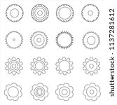 set of flat icons of gears.... | Shutterstock .eps vector #1137281612