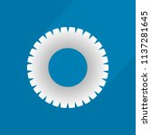 flat icon of gear with long... | Shutterstock .eps vector #1137281645