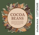 cacao beans plant  vector... | Shutterstock .eps vector #1137283688