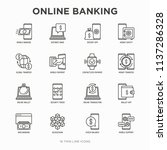 online banking thin line icons... | Shutterstock .eps vector #1137286328