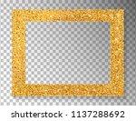 golden frame on transparent... | Shutterstock .eps vector #1137288692
