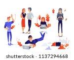 cartoon social communication...   Shutterstock .eps vector #1137294668
